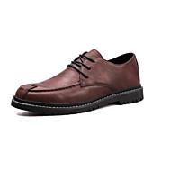 baratos Sapatos Masculinos-Homens Sapatos Confortáveis Microfibra Primavera & Outono Casual Oxfords Preto / Marron / Khaki