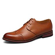 baratos Sapatos Masculinos-Homens Sapatos formais Couro Sintético Outono & inverno Oxfords Listrado Preto / Marron / Festas & Noite / Estampa Colorida