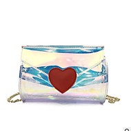Women's Bags PVC(PolyVinyl Chloride) Mobile Phone Bag Buttons Rainbow