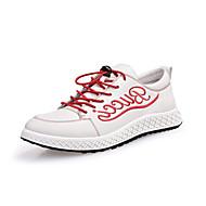 baratos Sapatos Masculinos-Homens Sapatos de couro Pele Napa Primavera / Outono Tênis Branco / Vermelho
