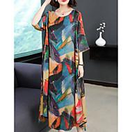 Dame I-byen-tøj Løstsiddende Tunika Kjole - Farveblok Midi