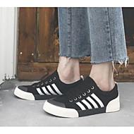 baratos Sapatos Masculinos-Homens Sapatos Confortáveis Jeans Primavera Casual Tênis Preto / Cinzento