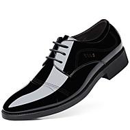 baratos Sapatos de Tamanho Pequeno-Homens Sapatos formais Couro Envernizado Outono Oxfords Preto