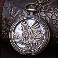 billige Lommeure-Herre Par Lommeure Quartz Afslappet Ur Sej Legering Bånd Analog Vintage Afslappet Bronze - Bronze