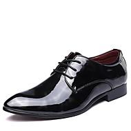 baratos Sapatos de Tamanho Pequeno-Homens Sapatos de vestir Couro Envernizado Outono Oxfords Preto / Vermelho / Azul