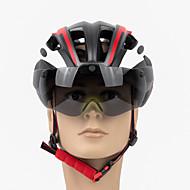 PROMEND Erwachsene Fahrradhelm / BMX Helm 17 Öffnungen Leichtes Gewicht, Einteilig vergossen ESP+PC Sport Eislaufen / Outdoor Übungen / Radsport / Fahhrad - Schwarz / Rot / Blau Unisex
