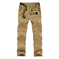 Hombre Pantalones para senderismo Pantalones convertibles Al aire libre Impermeable Resistente al Viento Resistente a los rayos UV Pantalones / Sobrepantalón Caza Pesca Senderismo Negro Verde
