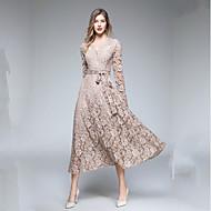 Γυναικεία Βασικό / Κομψό Μανίκι Πέταλο Θήκη Φόρεμα Δαντέλα Μίντι