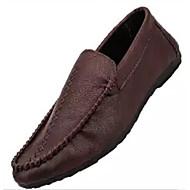 baratos Sapatos de Tamanho Pequeno-Homens Mocassim Couro Ecológico Primavera & Outono Mocassins e Slip-Ons Preto / Marron / Vinho