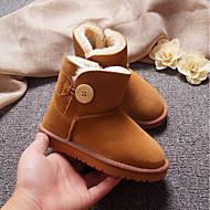 baratos Sapatos de Menina-Para Meninas Sapatos Camurça Inverno Botas de Neve Botas para Infantil Fúcsia / Marron / Verde