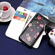 Custodia Per Apple iPhone XR / iPhone XS Max A portafoglio / Porta-carte di credito / Con supporto Integrale Fiore decorativo Resistente pelle sintetica per iPhone XS / iPhone XR / iPhone XS Max
