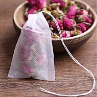 billige Kaffe og te-20 stk teesker tomme luktede teposer med strengenhelsepapirpapir for urtløs te bolsas
