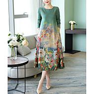 Χαμηλού Κόστους -Γυναικεία Κομψό Γραμμή Α Φόρεμα Μίντι