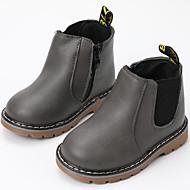 baratos Sapatos de Menino-Para Meninos / Para Meninas Sapatos Couro Ecológico Inverno / Outono & inverno Botas da Moda Botas Caminhada Tira Trançada para Infantil / Adolescente Cinzento / Vermelho / Camel