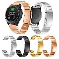 billiga Smart klocka Tillbehör-Klockarmband för Fenix 5 Garmin Klassiskt spänne Metall / Rostfritt stål Handledsrem