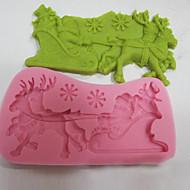 billige Bakeredskap-Bakeware verktøy silica Gel Jul Kake Cake Moulds 1pc
