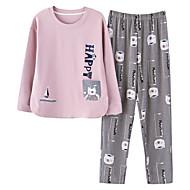 Dame Rund hals Jakkesæt Pyjamas Patchwork