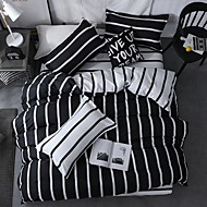 billige Moderne dynetrekk-Sengesett Moderne Polyester / Bomull Reaktivt Trykk 4 deler