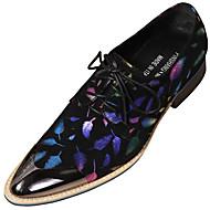 Miesten Muodolliset kengät Nappanahka Syksy Englantilainen Oxford-kengät Wear Proof Musta / Juhlat
