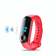 KUPENG M3 Unisex Smart Bracelet Smartwatch Android iOS Bluetooth Sports Waterproof Heart Rate Monitor Blood Pressure Measurement Touch Screen Pedometer Call Reminder Activity Tracker Sleep Tracker