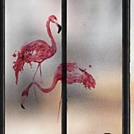 tanie סרטים ומדבקות לחלון-Folie okienne i naklejki Dekoracja Słodki styl Charakter Polichlorek winylu Godny podziwu