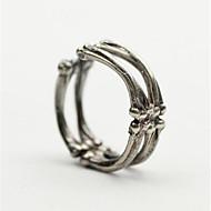 Ανδρικά Πεπαλαιωμένο Στυλ Ανοίξτε τον δακτύλιο Επάργυρο Δημιουργικό Βίντατζ Πανκ Μοδάτο Δαχτυλίδι Κοσμήματα Ασημί Για Χριστούγεννα Halloween Ρυθμιζόμενο