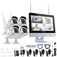 baratos Kits NVR-câmera impermeável do ip do sistema de segurança do nvr do wifi de annke® 4ch 1080p sem o hdd