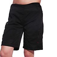 Jaggad Muškarci Biciklističke kratke hlače s jastučićima Kratke hlače za MTB Bicikl Kratke hlače Vrećaste hlače Kratke hlače za MTB Prozračnost Pad 3D Sportski Jedna barva Poliester Elastan Crn