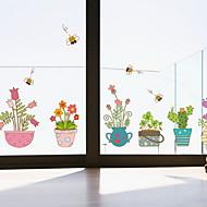 baratos Películas e Adesivos de Janela-Filme de Janelas e Adesivos Decoração Moderna / Comum Floral / Simples PVC Adesivo de Janela / Adorável