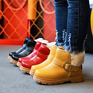 baratos Sapatos de Menino-Para Meninos Sapatos Couro Ecológico Inverno / Outono & inverno Curta / Ankle Botas Caminhada Presilha para Infantil / Adolescente Preto / Amarelo / Vermelho / Botas Curtas / Ankle