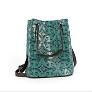 baratos Bolsas de Ombro-Mulheres Bolsas Pele Bolsa de Ombro Ziper Verde Claro / Café / Roxo Claro