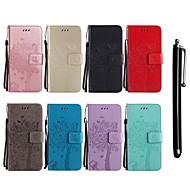 billiga Mobil cases & Skärmskydd-fodral Till LG G3 Plånbok / Korthållare / med stativ Fodral Katt / Träd Hårt PU läder för LG G7 ThinQ / LG G5 / LG G4