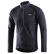 Arsuxeo Ανδρικά Μακρυμάνικο Φανέλα ποδηλασίας Downhill Jersey - Κόκκινο Πράσινο Σκούρο γκρι Συμπαγές Χρώμα Ποδήλατο Αθλητική μπλούζα Αναπνέει Γρήγορο Στέγνωμα Αντανακλαστικές Λωρίδες Αθλητισμός