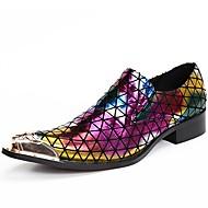 رجالي أحذية رسمية Leather نابا الربيع بريطاني أوكسفورد ارتداء إثبات التدرج التقزح اللوني / الحفلات و المساء