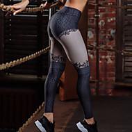 Dame Blonder Yoga bukser - Sort Sport Farveblok Tights / Leggins Løb, Fitness, Træning Sportstøj Butt Lift, Power flex, 4-vejs strækning Elastisk Tynde, Tynd