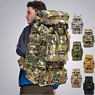 Sırt Çantaları Arka Çantaları Askeri Taktik Sırt Çantası 70 L - Yağmur-Geçirmez 3D Pet Hava Alan Giyilebilir Açık hava Avlanma Balıkçılık Yürüyüş Naylon Gri Kamuflaj Haki