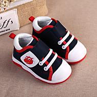 baratos Sapatos de Menina-Para Meninos / Para Meninas Sapatos Couro Ecológico Primavera & Outono / Primavera Conforto Tênis Caminhada Velcro para Infantil Azul Escuro / Amarelo / Rosa claro
