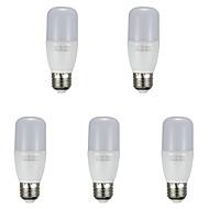 billige Kornpærer med LED-5pcs 7 W 700 lm E26 / E27 LED-kornpærer T 12 LED perler SMD 2835 Varm hvit / Hvit 85-265 V