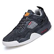 baratos Sapatos Masculinos-Homens Sapatos Confortáveis Lona / Jeans Outono Esportivo Tênis Corrida Não escorregar Estampa Colorida Preto / Bege / Azul