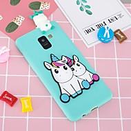 Custodia Per Samsung Galaxy A8 Plus 2018 / A6+ (2018) Fantasia / disegno / Fai da te Per retro Unicorno Morbido TPU per A5(2018) / A6 (2018) / A6+ (2018)