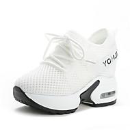 نسائي أحذية الراحة شبكة خريف & شتاء رياضي / حلو أحذية رياضية المشي منصة أمام الحذاء على شكل دائري أبيض / أسود / أحمر