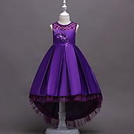 Παιδιά Κοριτσίστικα Γλυκός Γεωμετρικό Αμάνικο Φόρεμα Ρουμπίνι