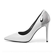 Per donna Scarpe comfort Pelliccia sintetica Autunno Tacchi A stiletto Bianco / Nero