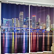 3D gardiner Soveværelse Moderne Polyester Reaktivt Print