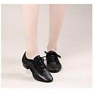 billige Moderne sko-Dame Moderne sko Lær Oxford Tykk hæl Dansesko Svart