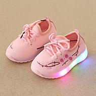 tanie Obuwie chłopięce-Dla chłopców / Dla dziewczynek Obuwie Siateczka Wiosna i jesień Wygoda / Świecące buty Adidasy Sznurowane / LED na Dzieci / Brzdąc Biały / Czarny / Różowy