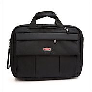 billige Computertasker-Nylon Laptoptaske Lynlås Sort / Kaffe