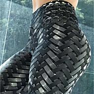 cheap Group Buy Saturday-Women's Yoga Pants Black Sports Print High Rise Leggings Bottoms Zumba Running Fitness Activewear Butt Lift Tummy Control Power Flex High Elasticity Skinny Slim / Winter