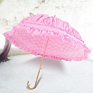 "billiga Brudparaplyer-Krokhandtag Bröllop / Dagligen Paraply Unik bröllopsdekor / Paraply / parasoll 33.5""(Approx.85cm)"
