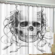 billige Mørkleggingsgardiner-3D gardiner Soverom Moderne Polyester Reaktivt Trykk